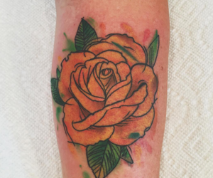 tattoo, flower, and rosa image