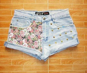 flowers, green, and shorts image