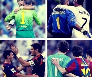cristiano ronaldo, lionel messi, and iker casillas image