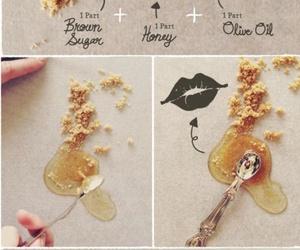 lips, diy, and honey image