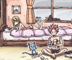 nalu, happy, and fairy tail image