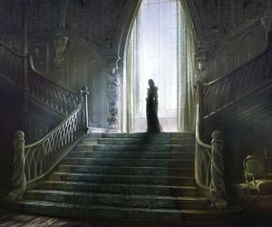 charming, staircase, and dark image