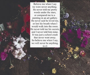 flowers, grunge, and poem image