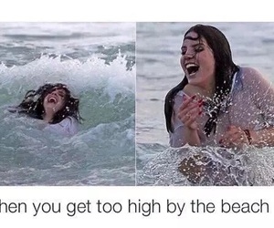 beach, lana del rey, and funny image