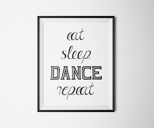 dance, minimal, and motivation poster image