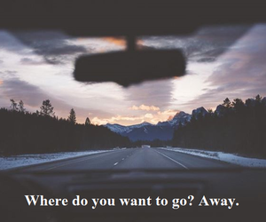 away, quote, and run away image
