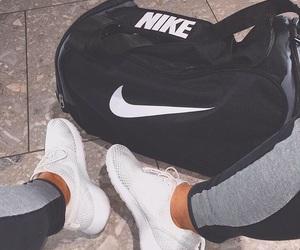 nike, bag, and shoes image