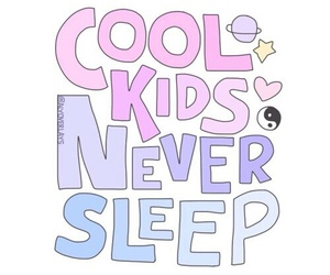 cool, sleep, and kids image