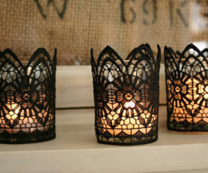 candle and lace image