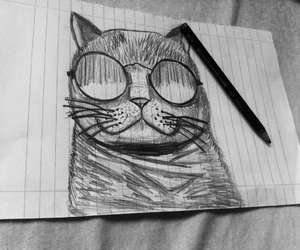 art, cat, and cool image