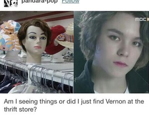 kpop, Seventeen, and vernon image