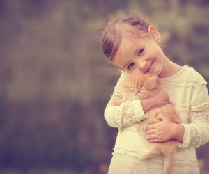 adorable, girl, and pet image