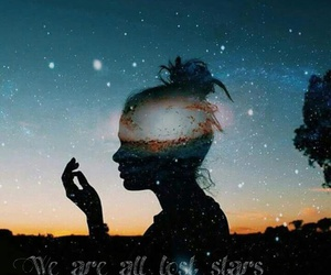girl, qoute, and stars image