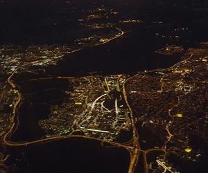 city, flight, and lights image