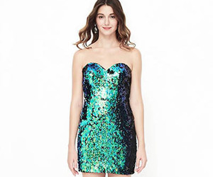 dress, sparkle, and cute image