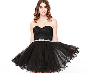 black, dresses, and homecoming image