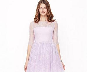 dress, purple, and cute image