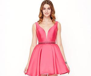 dresses, homecoming, and satin image
