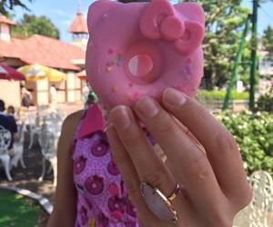 cute food, donut, and doughnut image