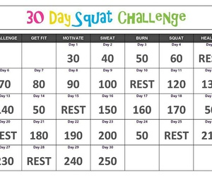 squats, challenge, and sport image