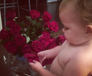 baby, roses, and cute image