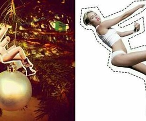 miley cyrus, christmas, and wrecking ball image