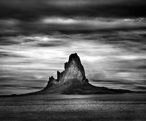 black and white, desert, and photography image