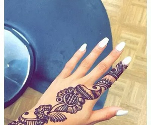 hands, henna, and nails image
