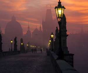 prague, light, and city image