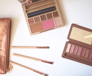 beauty, rose gold, and make-up image