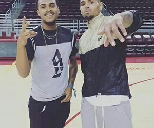 Basketball, breezy, and chris brown image