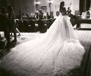 dress, wedding, and fashion image