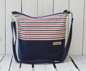 bag, navy, and tote image
