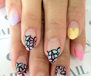 colorful, flowers, and nail art image