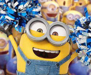 minions, banana, and movie image