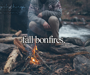 bonfire, fall, and autumn image