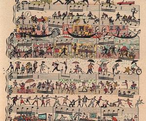 art, music, and music sheet image