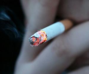 Darkness, smoking, and grunge image