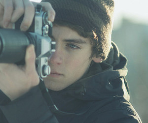 boy, camera, and logan lerman image