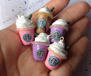 starbucks, cute, and pink image