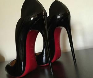 heels, black, and louboutin image