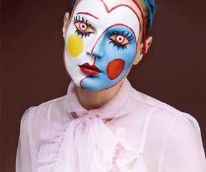 art, makeup, and model image