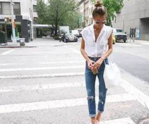 casual, clothing, and chic image