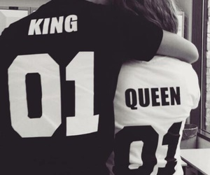 love, Queen, and king image