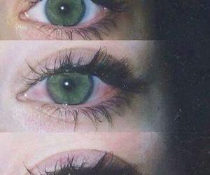 eyes, green, and grunge image