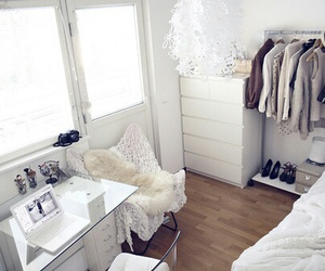 room, white, and bedroom image