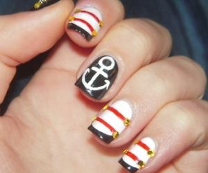 nails, anchor, and nail art image