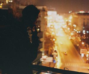 city, boy, and night image