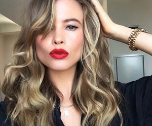Behati Prinsloo, red lips, and hair image