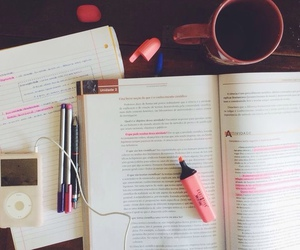 school, study, and music image